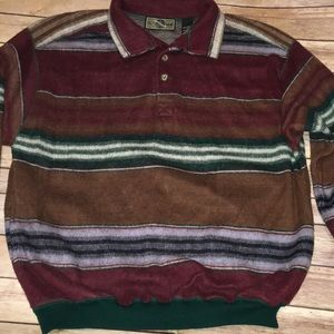 Structure vintage striped soft sweater